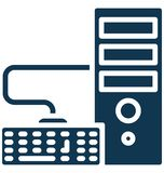 Power pc, workstation Isolated Vector Icon That can be easily edited in any size or modified. stock illustration