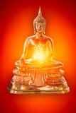 Power peaceful brass buddha image Stock Photos