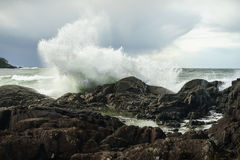Power. Pettinger Point in Tofino, British Columbia on the west coast of Vancouver Island Royalty Free Stock Photos