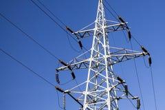 Power pillar or pylon on sky background stock photography