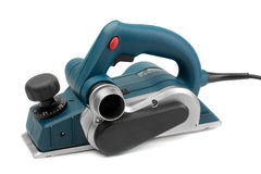 Power planer. Professional electric planer, studio shot. Isolate on White Stock Images