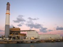 Power Plant. A power plant at evening time Stock Photo