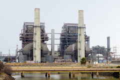 Power Plant. Electrical power generation plant on an overcast day Royalty Free Stock Image