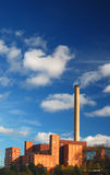 Power plant. Coal power plant with blue skies Stock Image