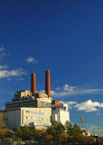 Power plant. With blue skies Stock Photo