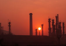 Power_Plant. An oil refinery plant near Turbhe in Maharashtra, India Royalty Free Stock Image
