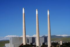 Power Plant. Electric power plant in Morro bay California Stock Images