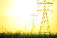 Power plant. Area of petrochemical Royalty Free Stock Photography