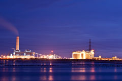Power plant. Area of petrochemical Royalty Free Stock Image