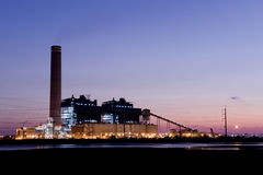 Power plant. On twilight time Royalty Free Stock Photos