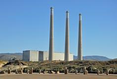 Power plant. Near Morro Rock, California Royalty Free Stock Photography