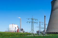 A power plant. For the production of electricity Stock Image