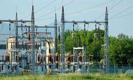 Power plant. Power station for electrical Industry Stock Photography