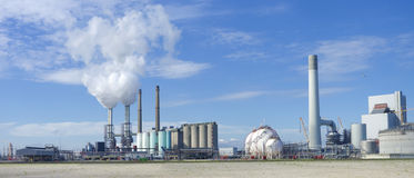 Power plant. Coal-fired power plant on the Maasvlakte, the industrial harbor district of Rotterdam Royalty Free Stock Image