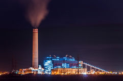Power Plant. With night shot Royalty Free Stock Image