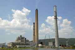 Power Plant. A Large Fossil Fuel Power Generation Plant Stock Image