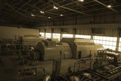Power plant. Steam turbines inside power plant Stock Image