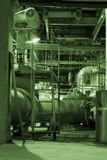 Power plant. Different Types Of Pipes Inside Energy Plant Stock Photos