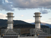 Power plant. Heat power plant in Boroa, Spain stock photos