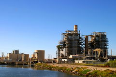 Power Plant. Natural gas power land near Ventura California Stock Image