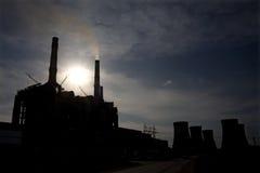 Power plant. Big power plant in Rovinari, Romania royalty free stock photo