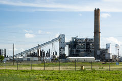 Power plant. A coal fired power plant for producing electricity Stock Image