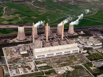 Power plant aerial Stock Photography