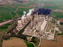 Power plant aerial Royalty Free Stock Photos