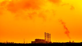 Power plant and air pollution time lapse, full HD. stock footage