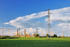 Power Plant And Crops Royalty Free Stock Photo