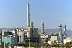 Power Plant in Barcelona Royalty Free Stock Photos
