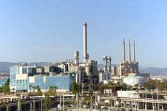 Power Plant in Barcelona Stock Photo