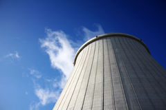 Power plant big chimney Stock Images