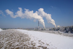 Power plant Boxberg in winter Stock Images