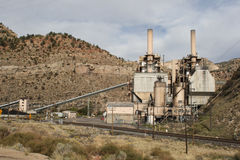 Power plant in the canyon two Royalty Free Stock Images