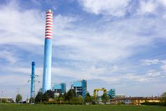 Power Plant at Cassano d'Adda (MI), Italy Royalty Free Stock Photo
