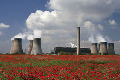 Power Plant - Cheshire - England. A coal-fired power plant in Cheshire in the United Kingdom Royalty Free Stock Photos