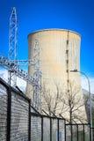 Power plant chimney Stock Photos