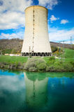 Power plant chimney Royalty Free Stock Image