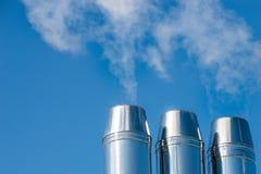 Power plant chimney Royalty Free Stock Photography