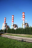 Power plant chimneys Stock Image