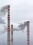 Power plant chimneys Royalty Free Stock Photo