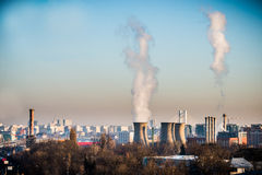 Power plant in the city Stock Image