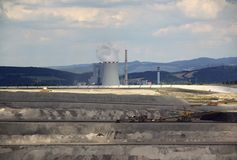 Power plant with the coal mine Royalty Free Stock Images