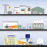 Power plant. Combine cycle simple graphic Royalty Free Illustration