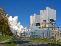 Power plant construction. Power station and new power plant construction Stock Image