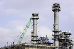 Power plant construction Royalty Free Stock Photos