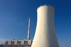 Power-plant and cooling-tower Stock Photos