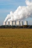 Power plant cooling towers upright V4 Royalty Free Stock Photo