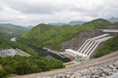 Power plant dam Stock Images